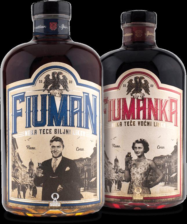 Fiuman i Fiumanka - Biljni likeri | Suza T.B.