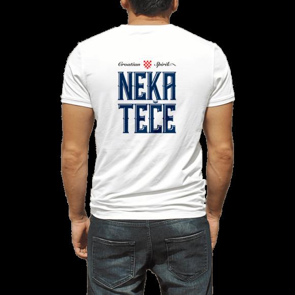 Fiuman Neka Teče muška majica - Suza Croatian Spirit