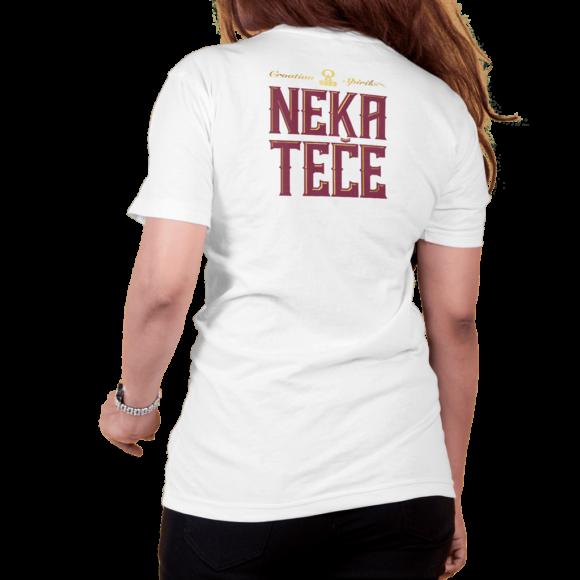 Fiumanka Neka Teče bijela ženska majica - Suza Croatian Spirit