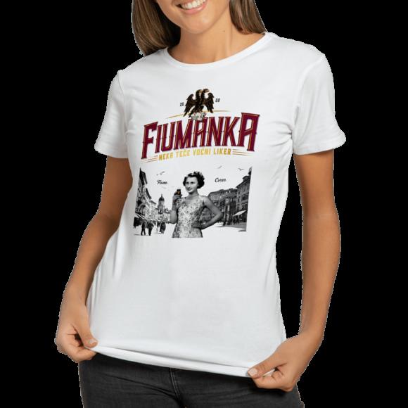 Fiumanka bijela ženska majica - Suza Croatian Spirit